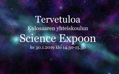 Tervetuloa Science Expoon ke 30.1.2019