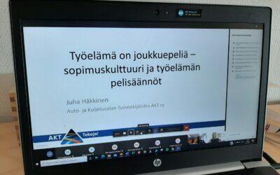 Ammattiyhdistystoimintaa AKT:n tarjoilemana