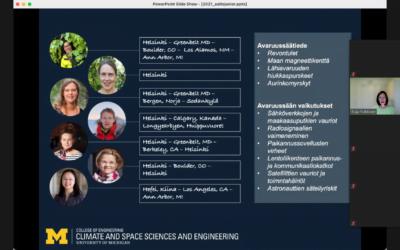TT-kakkoset Michiganin yliopiston avaruustutkimuksen vierailijaluennolla